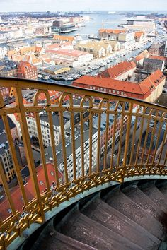 View of Copenhagen, Denmark from the Vor Frelsers Kirke / Church of Our Saviour Tower. If you want to buy the photo for $10 (original, large size) - check out my profile on Foap! https://www.foap.com/community/profiles/julieweiss10