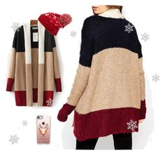 """""""Christmas Folk Cardigan"""" by trendy21com on Polyvore featuring Collection XIIX, Casetify and Shishi"""