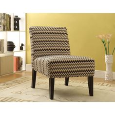 Aberly Espresso Accent Chair