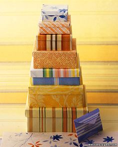 These finished boxes are so pretty, but they take some patience to create.