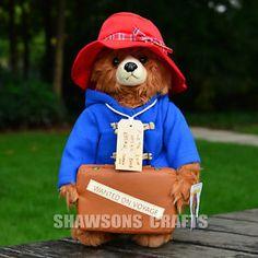 "MOVIE PADDINGTON BEAR PLUSH STUFFED TOYS 14"" SOFT DOLL STAND VERSION"
