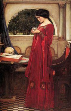 """The Crystal Ball"", Oil on canvas, John William Waterhouse."