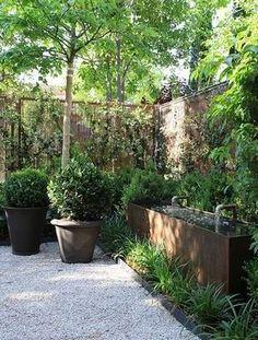 atmospheric corner in the garden Outdoor Plants, Outdoor Gardens, Water Features In The Garden, Exterior, Garden Spaces, Water Garden, Dream Garden, Garden Planning, Garden Inspiration