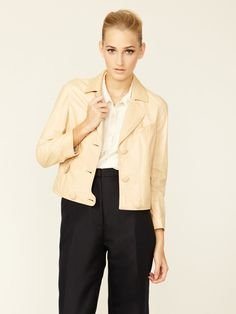 Cropped Leather Aviator Jacket by 3.1 Phillip Lim on Gilt.com