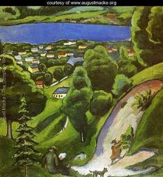 Tegernsee Landscape - August Macke (Expressionism, German 1887-1914)  www.augustmacke.org