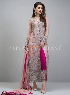 Zainab Chottani Luxury Rose Gold Jacket Embroidered Collection at Retail and whole sale prices at Pakistan's Biggest Replica Online Store Zainab Chottani Luxury Rose Gold Jacket Embroidered Collection