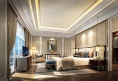 Wall treatments Master Bedroom Interior, Master Room, Home Bedroom, Modern Bedroom, Interior Architecture, Interior Modern, Plafond Design, Duplex, Decoration Design