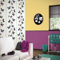 Überraschend anders und individuell: Eine Wand mit einem außergewöhnlichen Muster wirkt kreativ und kann zu einem besonderen Schmuck werden.  #homestory #homestoryde #home #interior #design #inspiring #creative #wall #wallpaper #trends