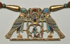 Pectoral of Princess Sit-Hathor-yunet (detail), Middle Kingdom, Dynasty 12, reigns of Senwosret II–Amenemhat III, ca.1887–1813B.C.  Egyptian; From Lahun  Gold, carnelian, feldspar, garnet, turquoise