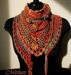 Mirtusz : ŐSZI KENDŐM Shawl, Crochet, Fashion, Crochet Hooks, Moda, La Mode, Crocheting, Fasion, Fashion Models
