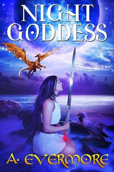 Night Goddes - fantastic new cover for The Prophecies of Zanufey, Book 1 - second edition