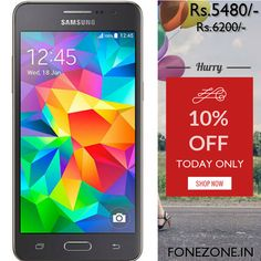 Today Only! {{10%}} this item.  Follow us on Pinterest to be the first to see our exciting Daily Deals. Today's Product: {{Samsung Galaxy Grand Prime (Refurbished)}} Buy now: {{http://www.fonezone.in/products/samsung-galaxy-grand-prime}}