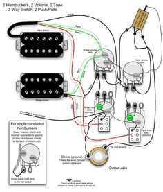 Wiring Diagram For Humbuckers Tone Volume Way Switch Ie - Wiring diagram les paul