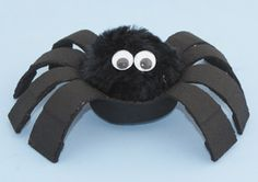 styrofoam cup and pompom spider from www.daniellesplace.com