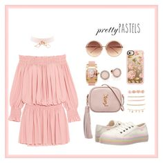 """Blush 02"" by rastaress-motso ❤ liked on Polyvore featuring Norma Kamali, Yves Saint Laurent, Rocket Dog, de Grisogono, Michael Kors, Charlotte Russe, Linda Farrow and Casetify"
