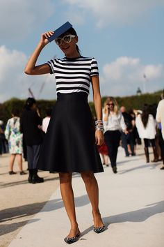 Love the simplicity of this outfit. On the Street…..At Valentino, Paris (via Bloglovin.com )