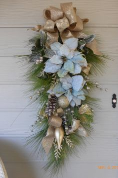 Christmas Wreaths  Christmas door swag  by JulieButlerCreations