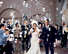 [UPDATED where to buy wedding bubbles for your ceremony send-off , do not miss this post! We'll tell you everything you need to know about wedding bubble tubes such as what are the best wedding bubbles, where to get modern + fun bubble styles, how to. Wedding Send Off, Wedding Exits, Wedding Photos, Wedding Day, Dallas Wedding, Budget Wedding, Wedding Dreams, Cheap Wedding Decorations, Wedding Bubbles