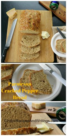 Parmesan Cracked Pepper Beer Bread #BreadBakers