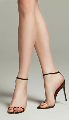 speechless. Sexy Sandals, Strappy Heels, Stiletto Heels, Open Toe High Heels, Hot High Heels, Stilettos, Talons Sexy, Sexy Legs And Heels, Stockings Heels