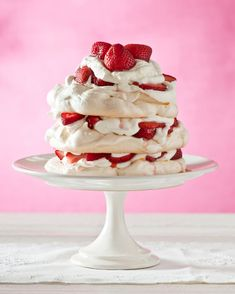 Local strawberries layered with whipped cream and crunchy/gooey meringue scented with a drop of rosewater for a beautiful summer dessert.  Recipe and wine pairing.