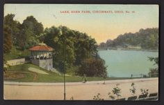 LAKE EDEN PARK CINCINNATI OHIO 1911 Postcard Gazebo LEBANON OHIO Cancel