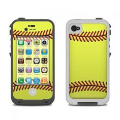 Lifeproof iphone 4 case skin - softball by sports decalgirl Cool Iphone Cases, Cool Cases, Cute Phone Cases, Softball Phone Cases, Phone Organization, Iphone Skins, Way Of Life, Iphone Se, Ipod