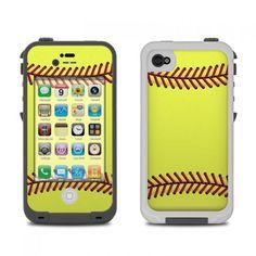 Lifeproof iphone 4 case skin - softball by sports decalgirl Cool Iphone Cases, Cool Cases, Cute Phone Cases, Iphone Skins, Iphone 5s, Softball Phone Cases, Phone Organization, Ipod, Softball Stuff