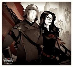 The Commander and the Baroness #COBRA #GIJoe