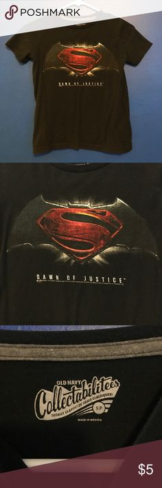Old Navy Batman Vs Superman Dawn of Justice tee Great little tee in wonderful condition! Purchased from Old Navy. Tag reads s/p Old Navy Shirts & Tops Tees - Short Sleeve