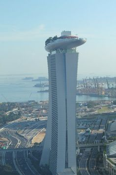 Marina Bay Sands Singapore. Got stuck in the elevator in the middle tower! Opening weekend July 2010