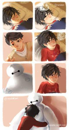 Baymax is Tadashi . no robot but I swear he was there when I opened my eyes Hiro Big Hero 6, Big Hero 6 Baymax, Big Hero 6 Tadashi, Film Disney, Disney Fan Art, Disney Memes, Disney Cartoons, Disney Dream, Disney Magic