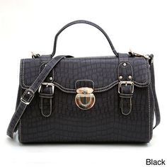 @Overstock - Anais Gvani Croco Embossed Mini Satchel Bag - This elegant croco briefcase-style satchel, from Anais Gvani, is perfect for any sophisticated and professional woman!  Each satchel is accented with detailed quality such as studs and zippers with special engraved designs.  http://www.overstock.com/Clothing-Shoes/Anais-Gvani-Croco-Embossed-Mini-Satchel-Bag/7213393/product.html?CID=214117 $76.99