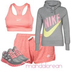 """""""Work Out Gear"""" by mandalorean on Polyvore cheap nike free run 2  only $48.5, save up to 62% off for all #Nikes #Shoes"""