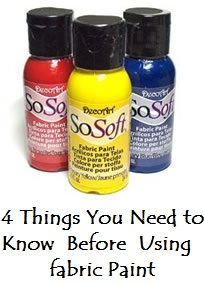 Fabric Paints- what to use and when.  Good to know!