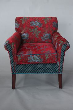 Salon+Chair+in+Red+Wine by Mary+Lynn+O'Shea: Upholstered+Chair available at www.artfulhome.com