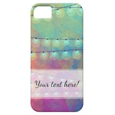 Vivid Watercolor & Bunting Fairy Lights iPhone SE/5/5s Case