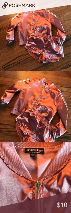 Fashion nova set Never been worn, silk material, thin, rose gold colored Fashion Nova Other