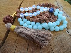 CHRISTMAS SALE 108 Mala Necklaces Handknotted by BohemianChicbead