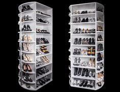 Front and Back Sides of the 360 Organizer® Shoe Spinner