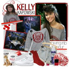 """Costume Idea: Kelly Kapowski"" by minnielle on Polyvore"