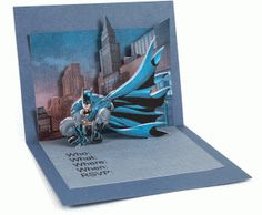 Silhouette Design Store - View Design #48481: batman pop-up card