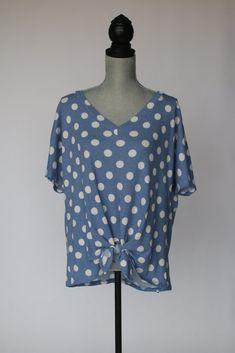 Top Spot Polka Dot Tee Polka Dot Tees, Polka Dots, Salt And Light, V Neck, How To Wear, Tops, Women, Fashion, Moda