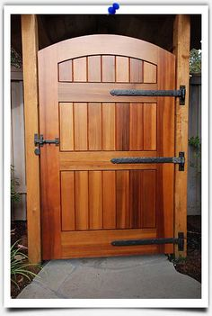Shop for the Traditional Gate Drop Bar by Coastal Bronze and compare to other Gate Latches. Traditional style gate drop bar latches to keep gates closed while its solid bronze construction ensures that it will never rust. Backyard Gates, Garden Gates And Fencing, Wood Fence Gates, Fence Doors, Garden Doors, Wood Doors, Wooden Gate Door, Wooden Garden Gate, Barn Door Hinges