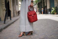 NIB NWT 100% authentic Chanel Urban Spirit Lambskin Backpack medium red $1723.0