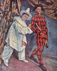 Paul Cézanne - Pierrot and Harlequin - 1888