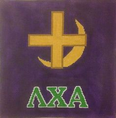 Lamda Chi Alpha Fraternity Hand Painted Needlepoint Canvas   eBay