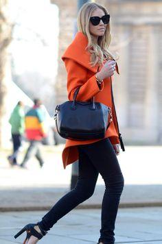 Brilliant orange coat