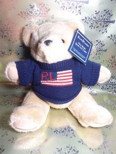 4abcd7a682 RALPH LAUREN Polo Sport Bear Fourth July Flag Jointed Teddy 1996 15