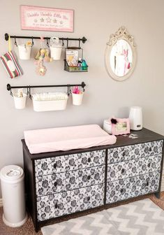 Nursery Changing Table DIY Baby Changing Station is part of Baby room diy - DIY Baby Changing Station is part of Nursery Changing Table How to easily put together a central baby changing station with all baby needs nicely organized and at your fingertips Baby Nursery Diy, Baby Room Diy, Baby Bedroom, Baby Room Decor, Baby Boy Nurseries, Diy Baby, Nursery Ideas, Room Ideas, Diy Nursery Storage Ideas